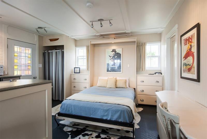 افكار لغرف نوم ضيقة بسرير قابل للطي