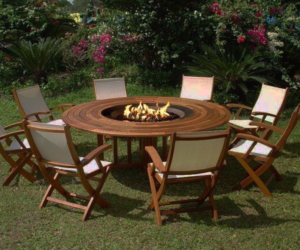 افكار مبتكرة لطاولة حديقة