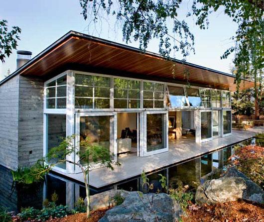 التصميم الخارجي لمنزل شبه الجزيرة الفاخر