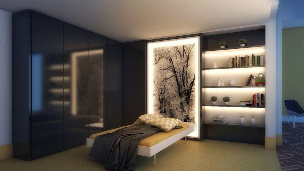 انارة غرف نوم مبتكرة