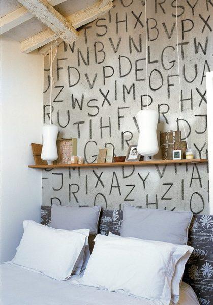 اوراق الجدران الحروف