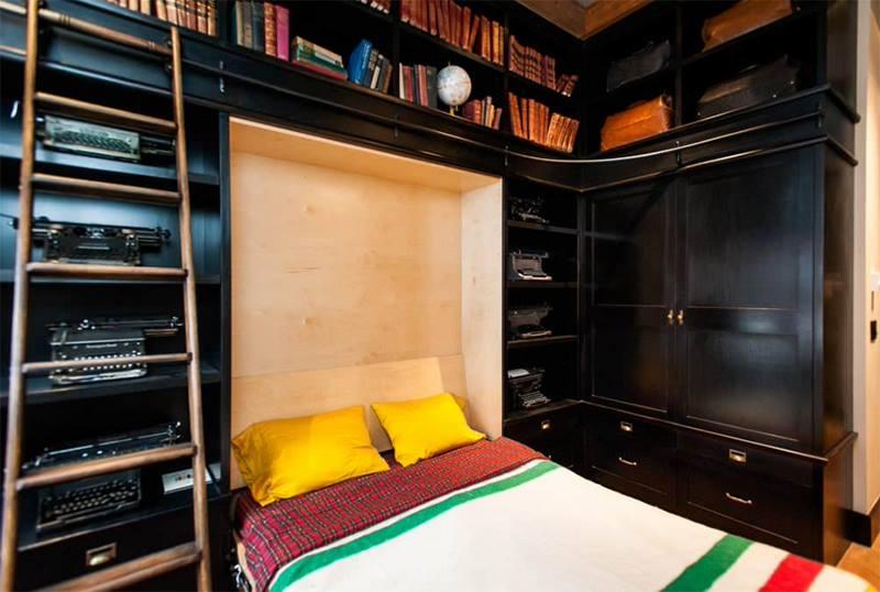 تصميم سرير للمساحات الصغيرة قابل للطي