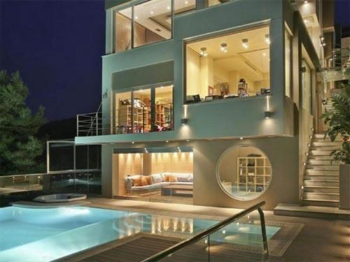 تصميم منازل من الخارج بنوراما لفيلا الألماس