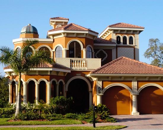 تصميم منازل من الخارج لمنزل فاخر مذهل
