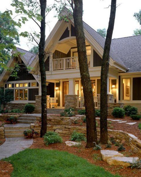 تصميم منزل خارجي لمنزل تقليدي فاخر