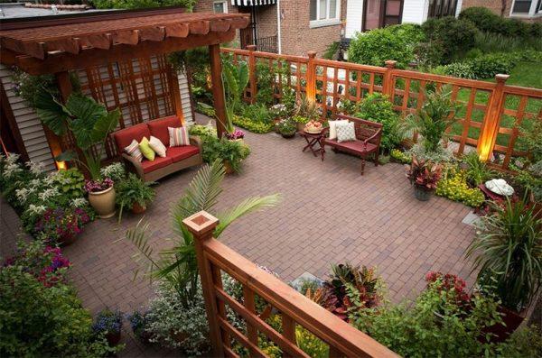 جلسات لحدائق منزلية