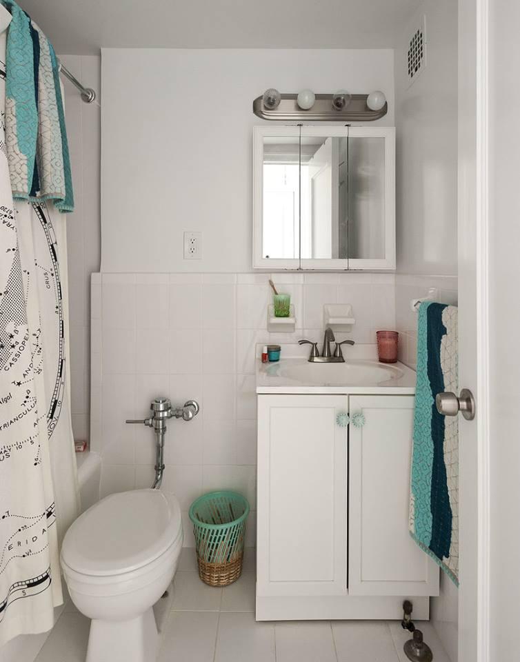 ديكورات حمامات لشقق صغيرة
