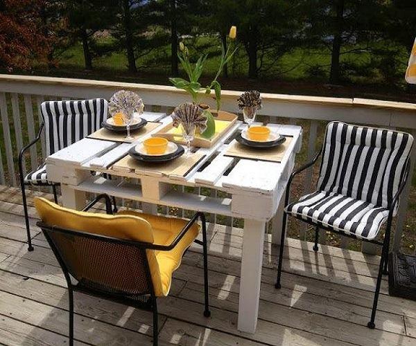 طاولات حدائق بافكار بسيطة