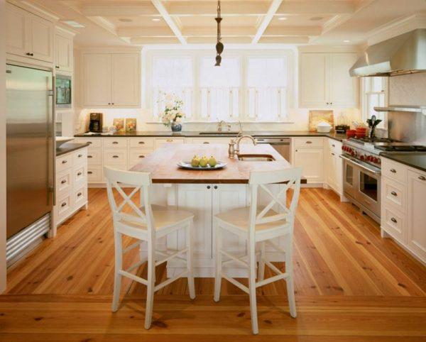 كراسي مطبخ بار بيضاء