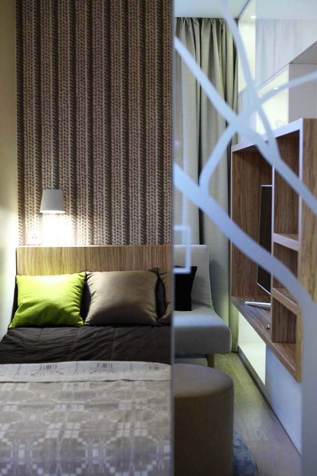 غرف نوم لمنازل صغيرة المساحة