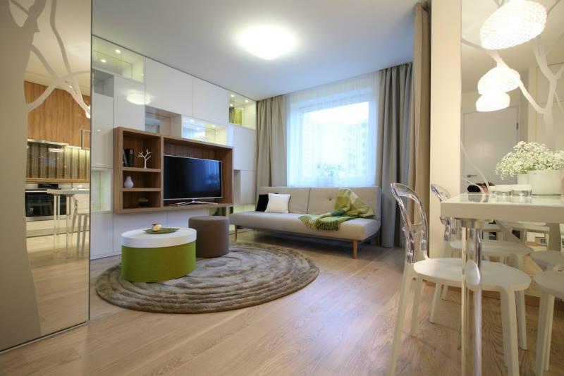 ديكور غرفة جلوس لمنازل صغيرة المساحة