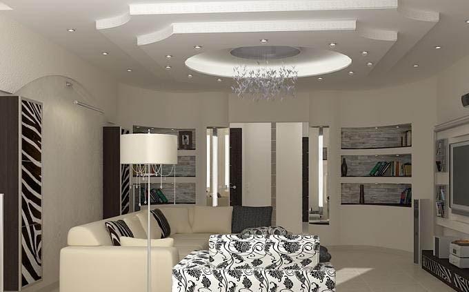 ديكور جبس لاسقف غرفة المعيشة 2