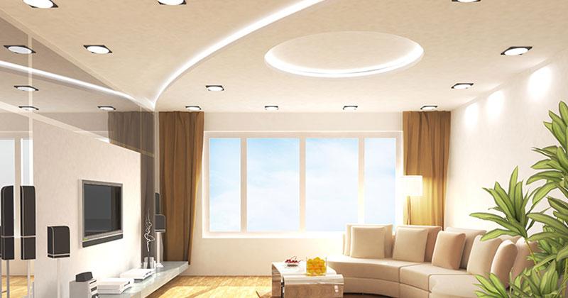 ديكور جبس لاسقف غرفة المعيشة