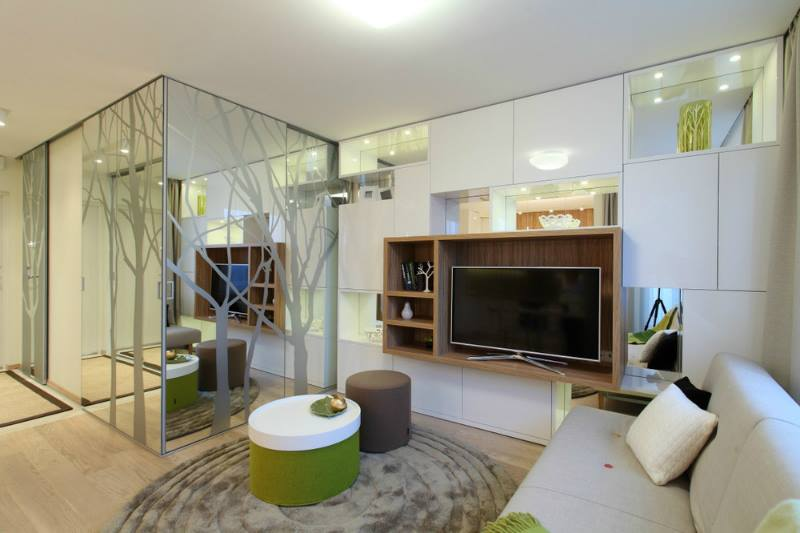 ديكور غرفة معيشة لمنازل صغيرة المساحة