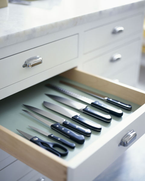 طريقة تخزين ادوات المطبخ