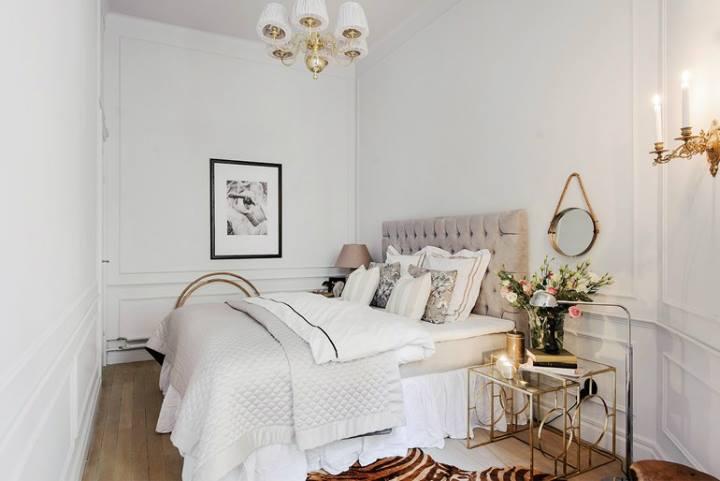 غرفة نوم منزل صغير