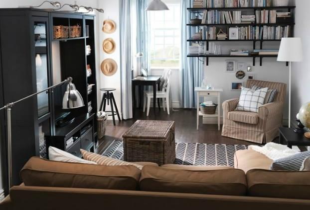 غرف معيشة صغيرة المساحة 2