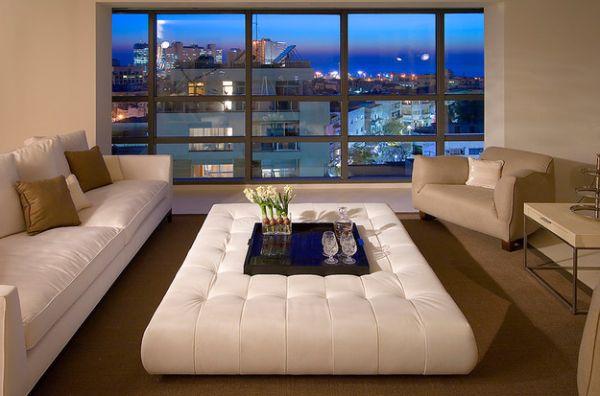 نوافذ غرف معيشة كبيرة
