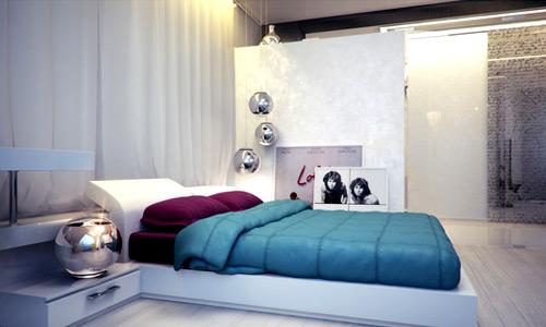 ديكورات غرف نوم صغيرة 3