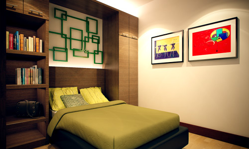 ديكورات غرف نوم صغيرة 4