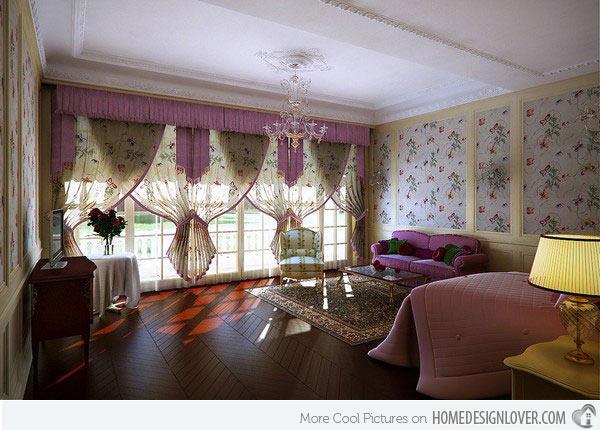 غرفة نوم كبيرة للبنات باللون الزهري