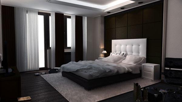 غرفة نوم كلاسيكية
