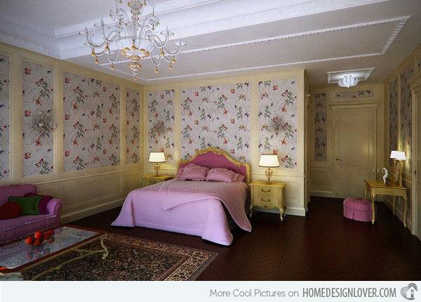 غرف نوم بنات باللون الزهري