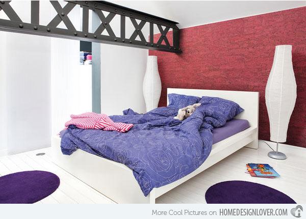 غرف نوم بنات للمساحات الصغيرة