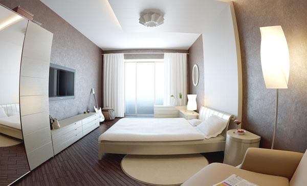 غرف نوم مودرن كاملة بيضاء 2