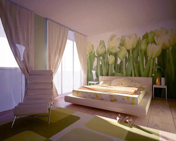 ورق جدران غرف نوم مودرن كاملة