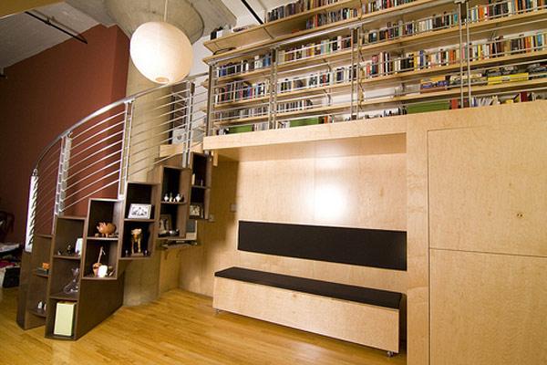 افكار مبتكرة لاستغلال مساحة تحت الدرج