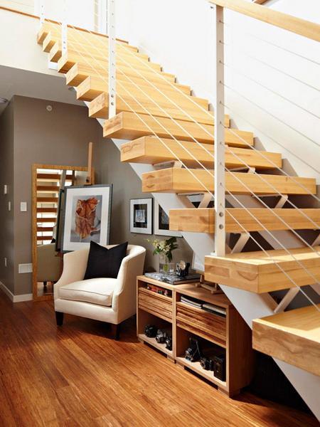 افكار لاستغلال المساحة تحت الدرج