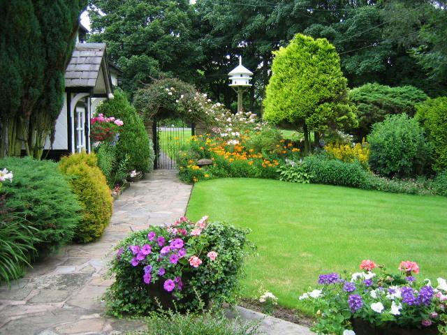 اجمل ديكورات حدائق المنازل