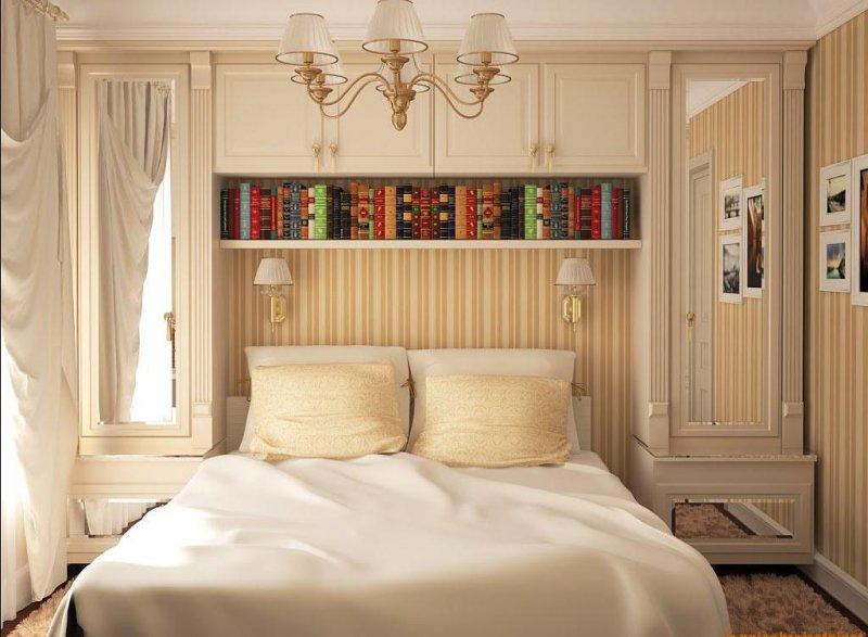 تصميم غرف نوم صغيرة الحجم وبسيطة للعرسان بمساحات صغيرة بالصور عرب ديكور