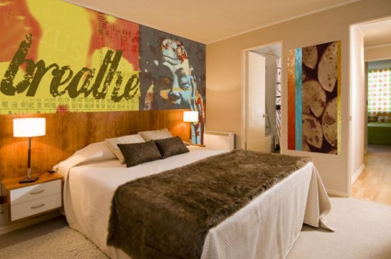 ورق جدران جدارية غرفة نوم بأسلوب فن البوب