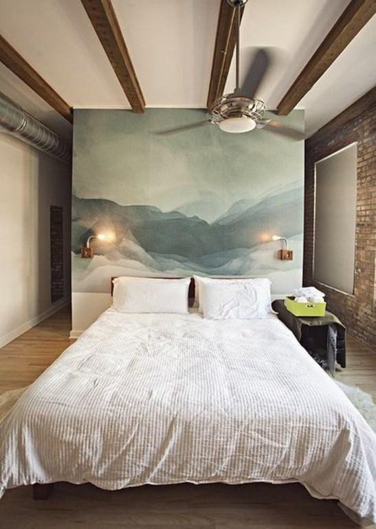 ورق جدران غرفة نوم ريفية بجدارية طبيعة