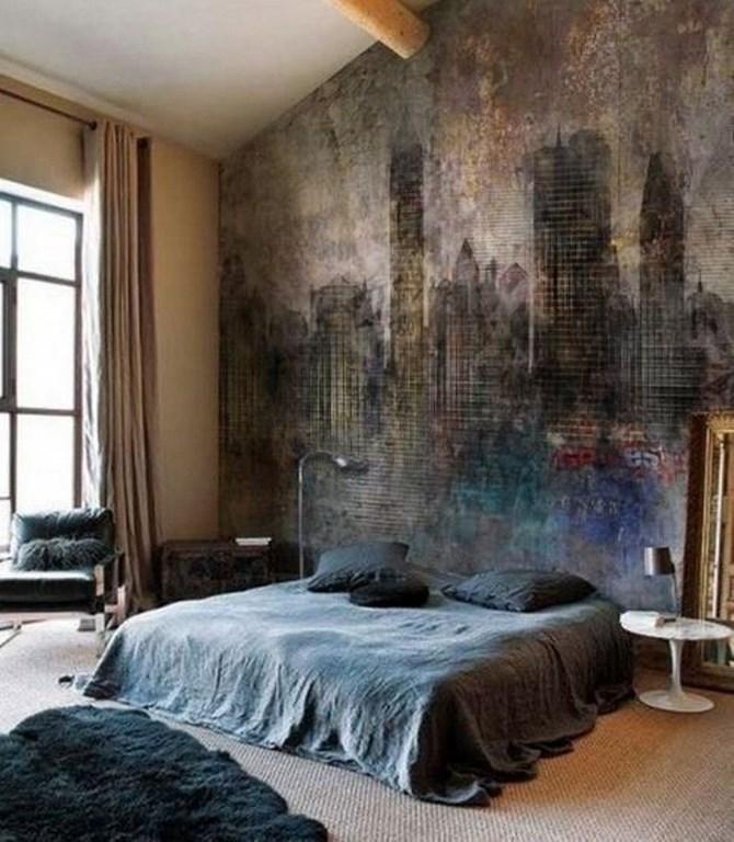 ورق جدران غرفة نوم بجدارية هادئة