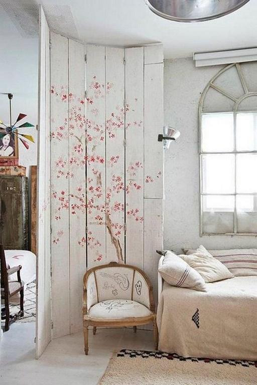 ورق جدران غرف نوم ريفية بجدارية أزهار