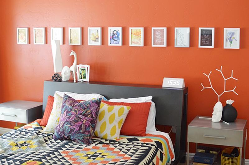 افكار لتزيين جدران غرف النوم