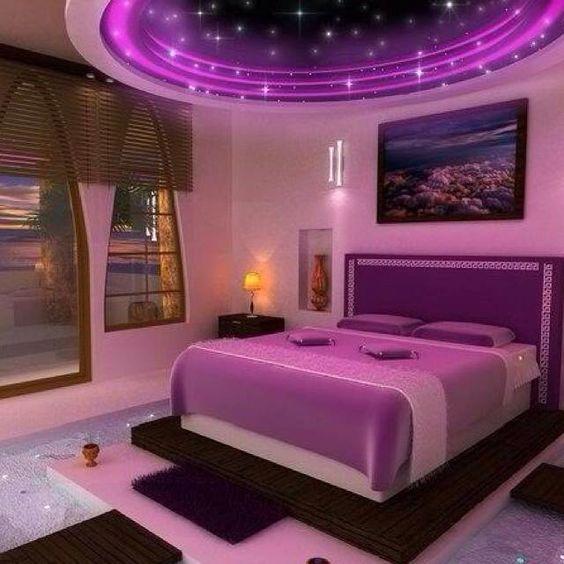 ديكورات اسقف رومانسية لغرف النوم