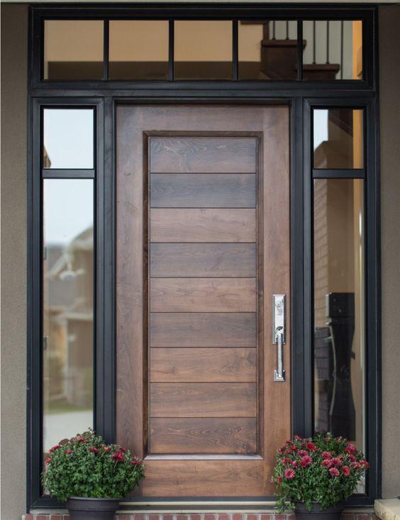 موديلات أبواب خشب حديثة