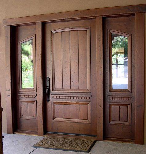 موديلات أبواب خشب 12