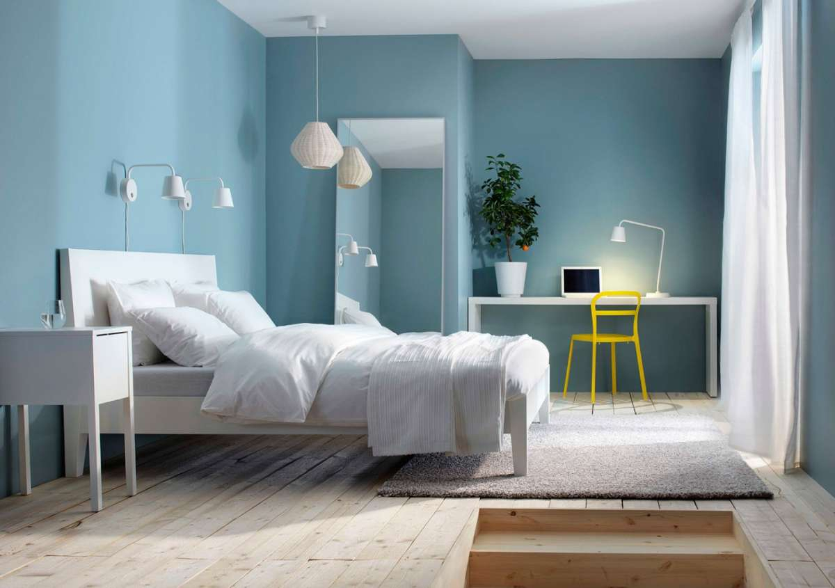 ألوان طلاء غرفة النوم 2018