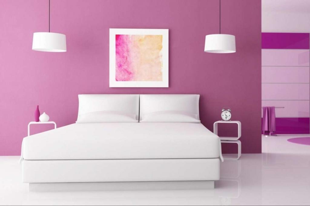 ألوان طلاء غرفة النوم الوردية