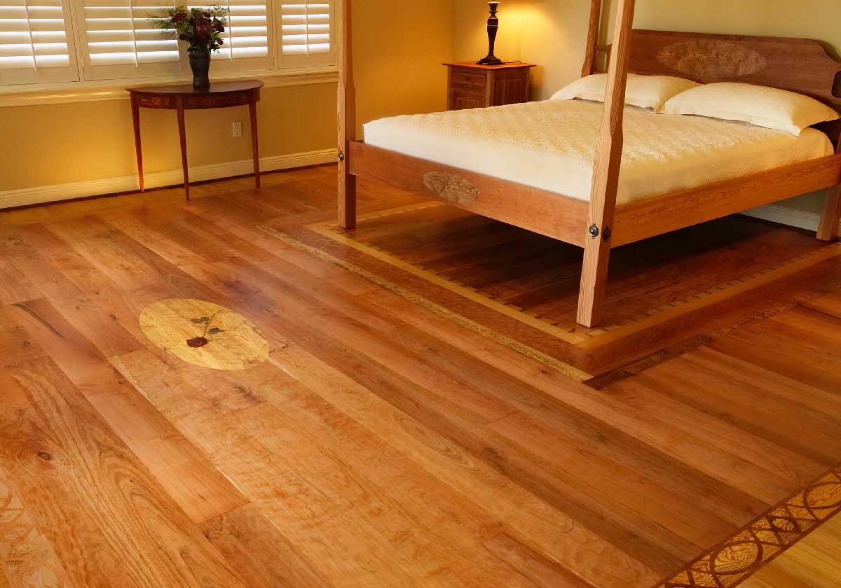 باركيه الخشب في غرفة النوم