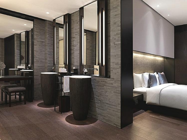 تصاميم لحمامات داخل غرف النوم مودرن