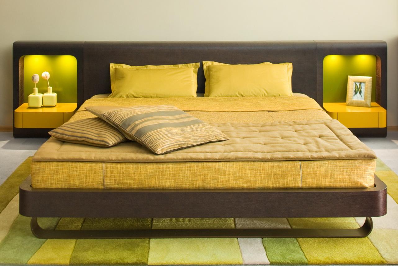 اللون الاصفر لدهانات غرف النوم