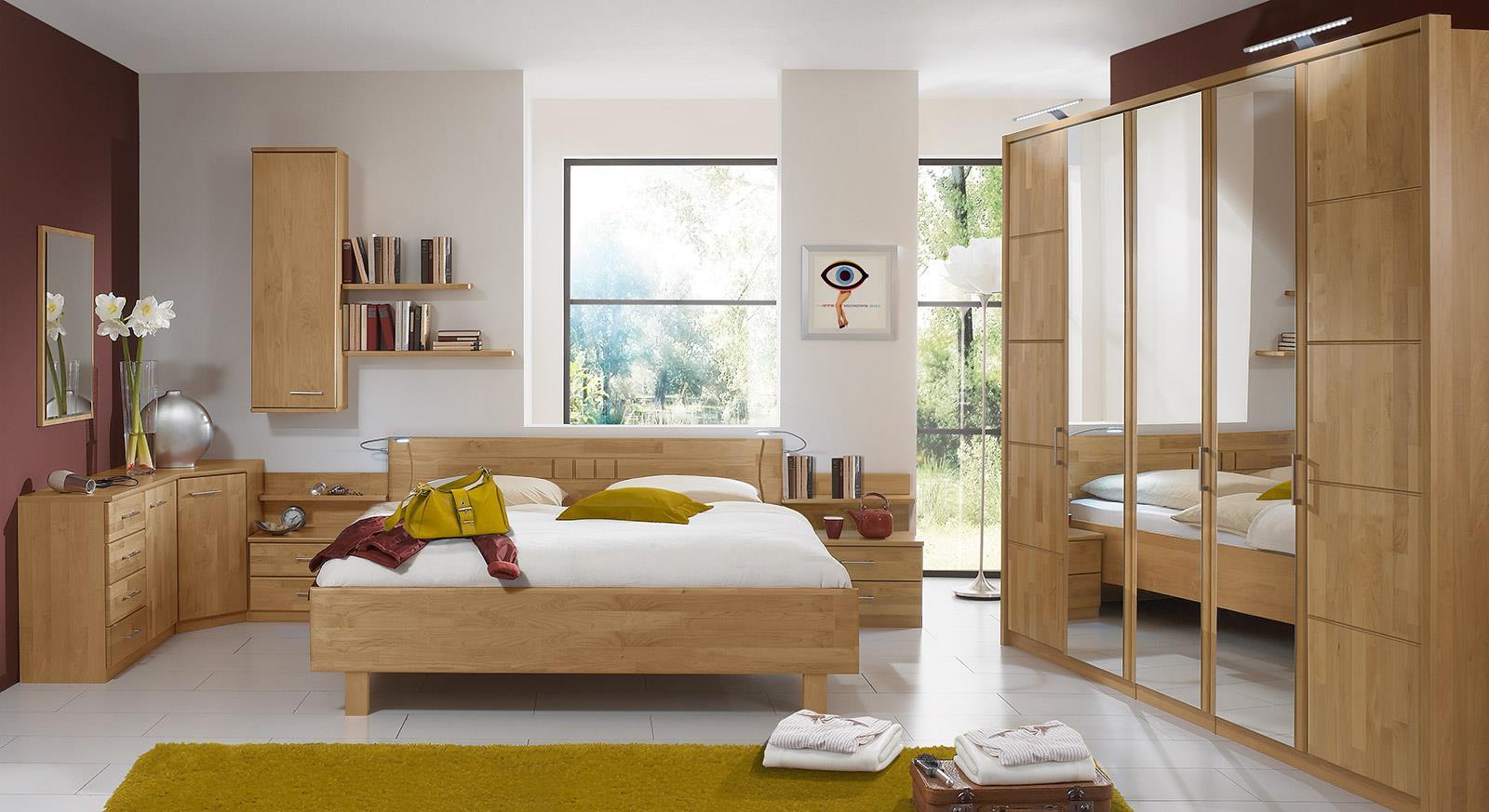 دهانات غرف نوم باللون الخشبي
