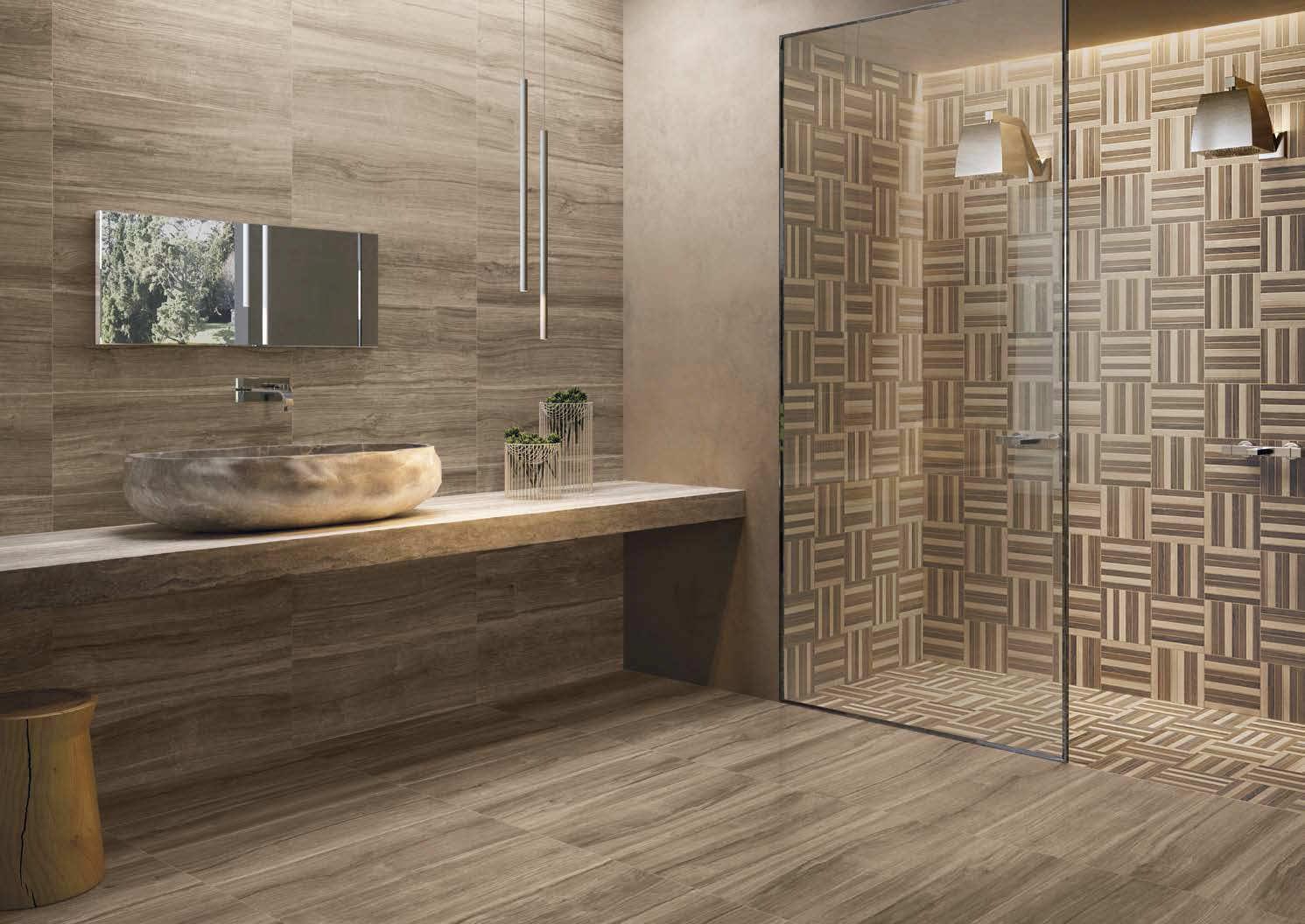for Salle de bain avec carrelage imitation bois