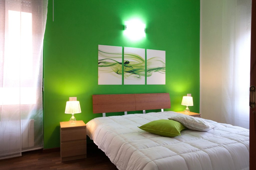 الوان لطلاء غرف النوم أخضر